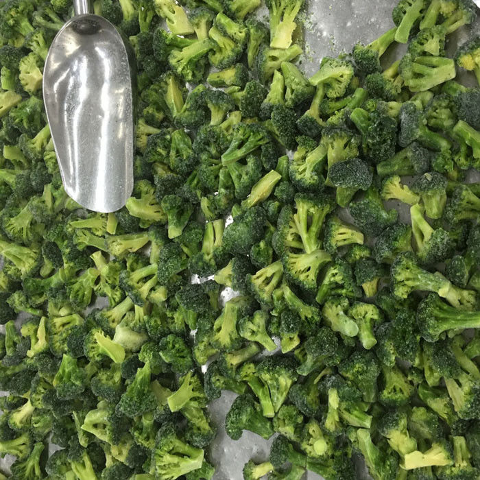 Premium IQF Frozen Vegetables / Green Broccoli Safe And Healthy Food